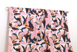 Japanese Fabric Abstract Floral - pink - 50cm
