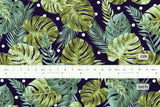Japanese Fabric Kokka Monstera Polka - navy - 50cm