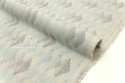 Japanese Fabric Kokka tentensen diamonds - blue - fat quarter