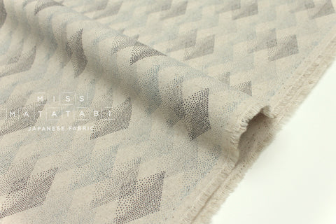 Japanese Fabric Kokka tentensen diamonds - grey - 50cm