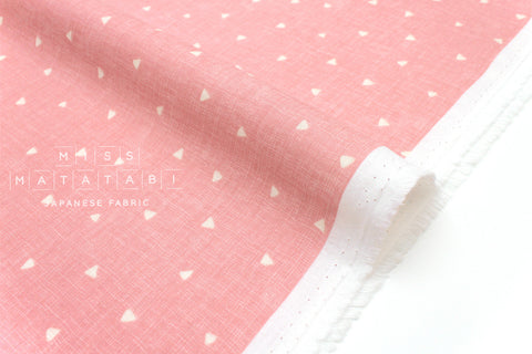 Japanese Fabric Kokka Tiny Triangles double gauze - pink - 50cm