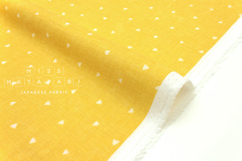 Japanese Fabric Kokka Tiny Triangles double gauze - yellow - 50cm