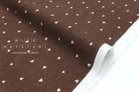 Japanese Fabric Kokka Tiny Triangles double gauze - chocolate - 50cm