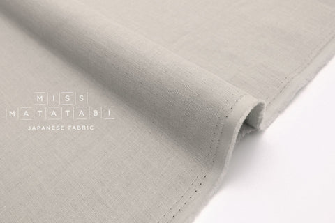 Japanese Fabric Muji double gauze - light grey - 50cm