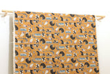 Japanese Fabric Kokka Mosotto Riding - orange caramel - 50cm