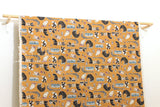 Japanese Fabric Kokka Mosotto Riding - orange caramel - fat quarter