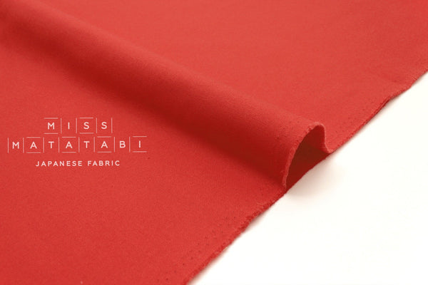 Japanese Fabric Muji canvas - red - 50cm