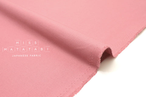 Japanese Fabric Muji canvas - pink - 50cm