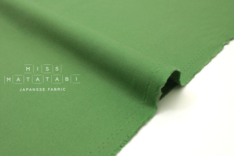 Japanese Fabric Muji canvas - green - 50cm