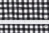 Japanese Fabric Seersucker Gingham lawn - black - 50cm