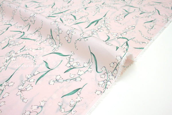 Japanese Fabric Bluebells cotton lawn - pink - 50cm