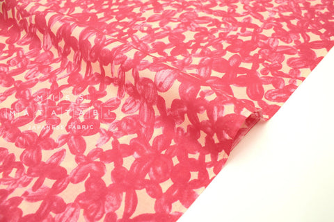 Japanese Fabric Clover cotton lawn - pink, peach - 50cm