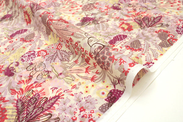 Japanese Fabric Rainforest cotton lawn - pink - 50cm