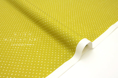 Japanese Fabric Cotton + Steel Basics - Stitch & Repeat - avocado - fat quarter