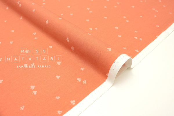 Japanese Fabric Cotton + Steel Basics - Clover and Over - peachy - 50cm