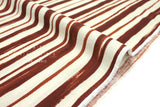 Japanese Fabric Kokka Painted Stripes - rust - 50cm