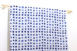 Japanese Fabric Kokka Watercolor Dots - blue, grey - 50cm