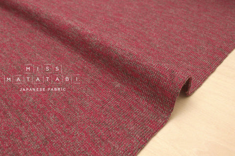 Japanese Fabric Wool and Linen Slub Knit - 50cm