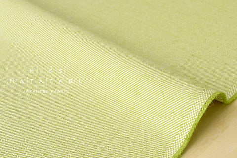 Japanese Fabric Linen Cotton Gabardine - green - 50cm