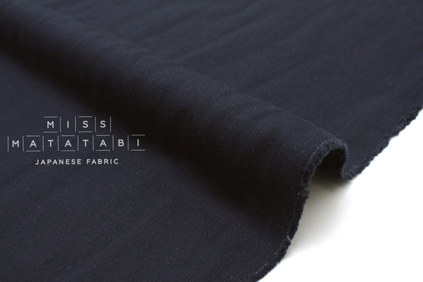 Japanese Fabric Solid Twill - navy blue - 50cm