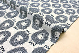 Japanese Fabric King Lion reversible double knit - vintage blue, ivory - 50cm