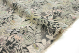 Japanese Fabric Kei Fabric Miyako Sun Bear Jungle - charcoal - fat quarter