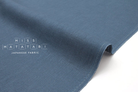 Japanese Fabric - 100% Linen - blue - 50cm