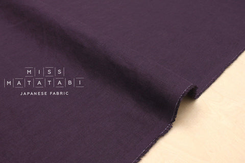 Japanese Fabric 100% brushed linen - grape -  50cm