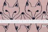Japanese Fabric Kitsune reversible double knit - pink, navy - 50cm