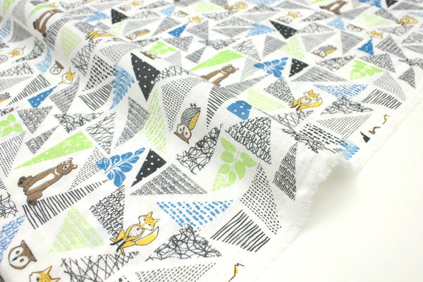 Japanese Fabric Forest Friends double gauze - summer - 50cm