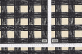 Japanese Fabric Sketched Check canvas - black, natural - 50cm