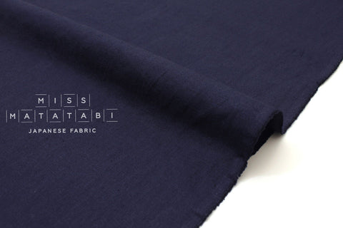 Japanese Fabric Kirisame canvas - indigo blue - 50cm