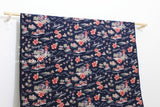 Japanese Fabric Aloha Corduroy - blue - 50cm