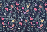 Japanese Fabric Trailing Floral - dark navy - 50cm