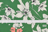 Japanese Fabric Ohana - green, peach orange, cream - 50cm