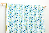 Japanese Fabric Cotton + Steel Once Upon A Time - Flower Rain - blue - 50cm