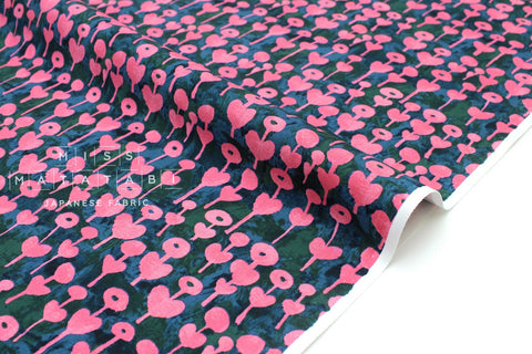 Japanese Fabric Cotton + Steel Once Upon A Time - Love Flower - pink - fat quarter