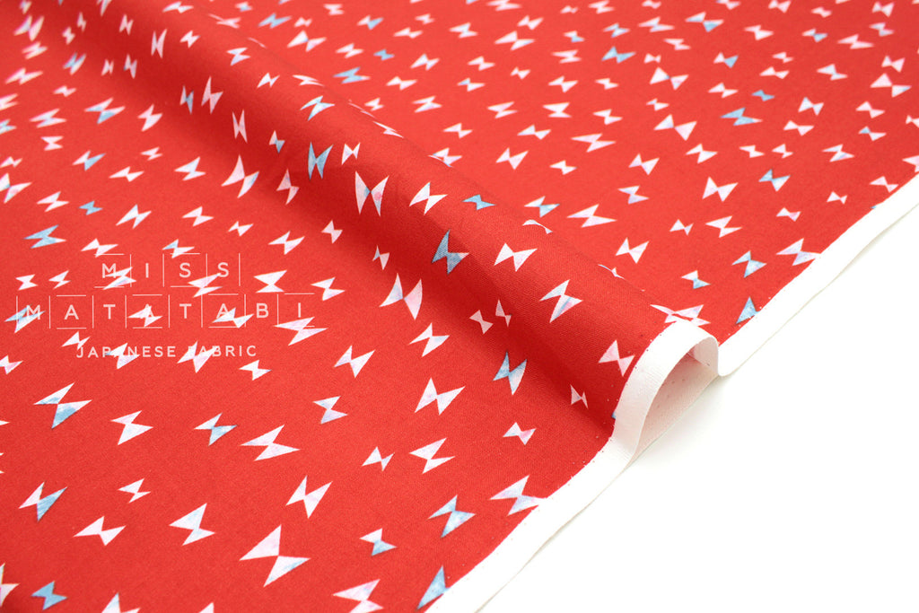 Cotton Steel Once Upon A Time Flying Ribbon Red Miss Matatabi Japanese Fabric