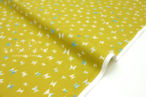 Japanese Fabric Cotton + Steel Once Upon A Time - Flying Ribbon - citron - fat quarter