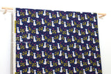 Japanese Fabric Cotton + Steel Once Upon A Time Canvas - Nya Nya - blue - fat quarter
