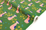 Japanese Fabric Cotton + Steel Once Upon A Time Canvas - Nya Nya - leaf - fat quarter