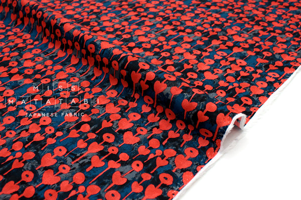 Cotton + Steel Once Upon A Time Rayon - Love Flower - cherry - 50cm