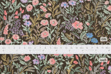 Japanese Fabric Floral twill - chocolate - 50cm