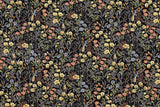 Japanese Fabric Floral twill - black - 50cm