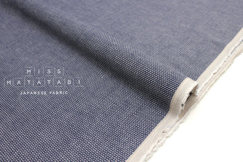 Japanese Fabric Yarn Dyed Linen Dobby - blue - 50cm
