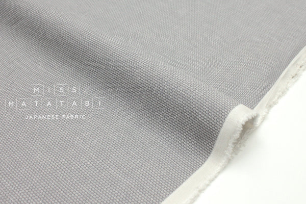 Japanese Fabric Yarn Dyed Linen Dobby - grey - 50cm