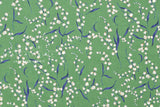 Japanese Fabric Bluebells cotton lawn - green - 50cm