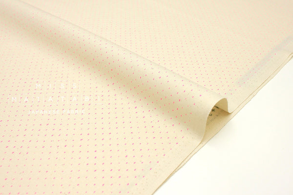 Japanese Fabric Cotton + Steel Basics - Stitch & Repeat - pink glow neon - 50cm