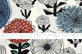 Japanese Fabric Mattina Di Vacanza Pop Flowers - white - 50cm