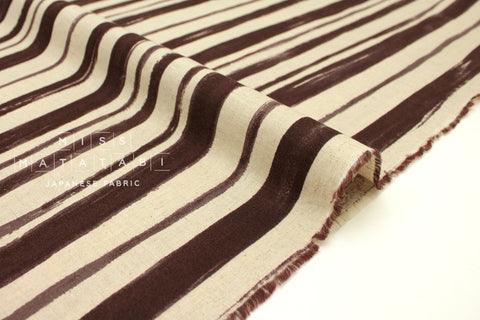 Japanese Fabric Kokka Painted Stripes - berry - 50cm